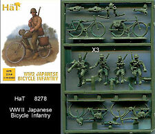 1:72 FIGUREN 8278 WWII JAPANESE BICYCLE INFANTRY - HÄT