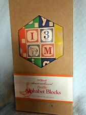 UNCLE GOOSE RARE WOOD BRAILLE BLOCKS MINT IN BOX NEW MADE IN USA