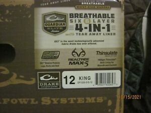 Drake Guardian Elite Insulated waist waders size 12 king
