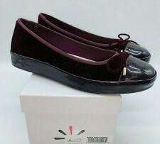Isaac Mizrahi Women's Rakel2 Velvet & Fuax Patent Slip-On Flats Dark Red 9M