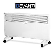 Devanti 2000W Convection Electric Panel Heater Metal Portable Panel Heat Wall M