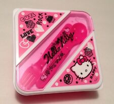 Ltd Sanrio Hello Kitty Squiggles Deluxe Lunch Container Box Fork Spoon 2012 NEW