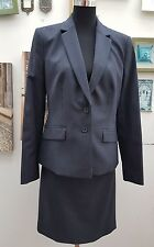 AUSTIN REED PUPPY DOGTOOTH NAVY JACKET&SKIRT 2 PIECE SUIT SIZES 8  £388.00