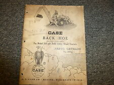 Case Backhoe for 310 310B Utility Wheel Tractor Parts Catalog Manual 4008724-