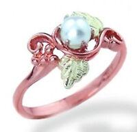 Landstrom's® 10K Black Hills Rose Gold Pearl Ring Size 4 to 10