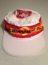 Miller High Life Beer Vintage White Painter Hat Welcome To Miller Time Men