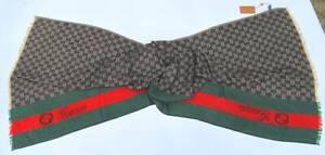 Unisex Authentic New w/Tag Gucci Monogram Cashmere Scarf Shawl