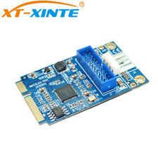 PCI-E to USB3.0 2-Port PCI Card PCIe Adapter PCIE to19pin USB 3.0 Expansion Card