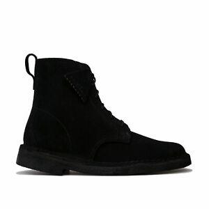 Womens Clarks Originals Desert Mali Boots In Black