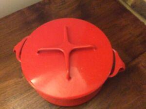 Dansk Design Red Enamel 60s Casserole
