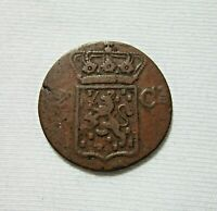 NETHERLANDS EAST INDIES. COPPER 2 CENTS, 1841 W.