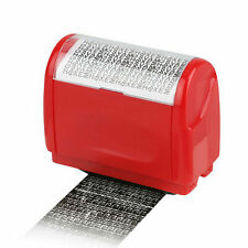 Identity Messy Code Roller Stamp Theft Guard ID Secure Data Protection
