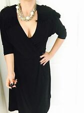 LEONA EDMISTON FROCKS DESIGNER WRAP WORK PARTY DRESS SZ 3