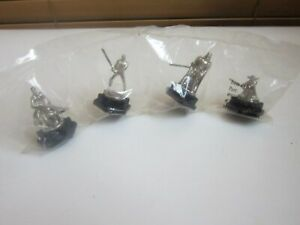 Star Wars Clone Wars Monopoly Game Tokens Pewter Replacement Lot of Four #T22