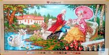 """Needlepoint tapestry canvas.Young couples 60x125cm 24""""x50"""" Gobelin L B970"""