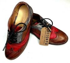 Bed Stu Womens Channing Oxford shoes Distressed Leather Wing Tip Lace Size US 7
