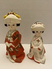 2 Vintage Japenese Girl Figurines