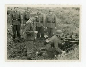 Infantry Set Up Mg34 Machine Gun on Lafette Tripod Helmets Mountain Boots Photo