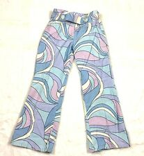GYMBOREE GROOVY Purple Blue White Black Pants Retro 70's Sz 6 EUC Corduroy