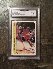 "1986 Fleer Sticker #8 Michael Jordan RC Rookie Read GMA HOF PSA 10  "" HIGH END """