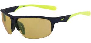 Nike Run X2 R Men's Matte Obsidian/Volt Semi-Rimless Sport Sunglasses EV0799 457