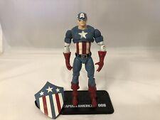"Marvel Universe Captain America 3.75"" Loose Action Figure Complete 1st Shield"