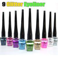Italia Deluxe 9 Colors Full Set of Glitter Liquid Eyeliner IT2302/GL Eye Liner