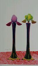 PAUL WUNDERLICH Original Farblithographie handsigniert num: 40/100 Schwertlilien