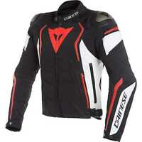 Giacca giubbotto moto Dainese Dyno tex black white red fluo sport racing