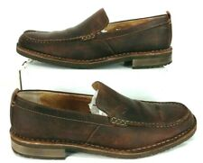 CLARKS 62058 Brown Leather Loafers MENS 9.5M Slip On Casual Dress Shoes