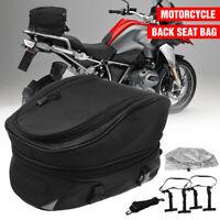 Motorcycle Motorbike Luggage Tail Bag Rear Seat Back Helmet Storage Waterproof