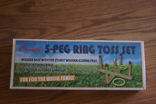Champion Sports 5-Peg Ring Toss Set