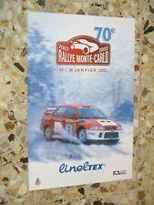 AFFICHE ORIGINALE 70 eme RALLYE MONTE CARLO 2002  WORLD RALLY ACM