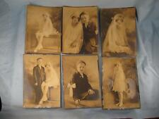 6 Vintage Photos First Holy Communion Boy Suit Girl White Dress Art Deco (O)