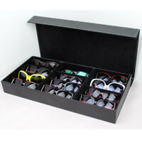 12 GRIDs PU Sunglasses Eye Glasses Display Jewelry Box Case Storage