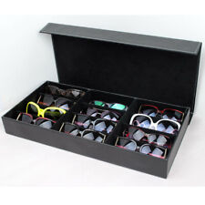 12 GRIDs PU Sunglasses Eye Glasses Display Jewelry Box Case Storage Organizer