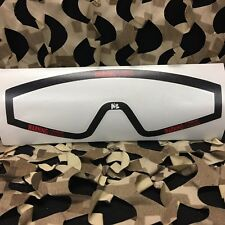 New Km Paintball Goggle Mask Wrap - Jt Spectra Lens - Warning
