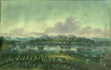 ANTIQUE CHINESE CHINA QING DYNASTY WATERCOLOR RICE PITH PAINTING LANDSCAPE 1840