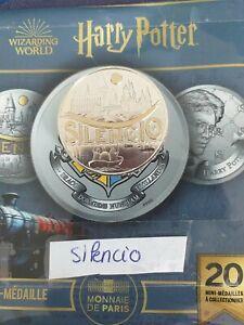 Mini Médaille Harry Potter Monnaie de Paris 2021 Silencio