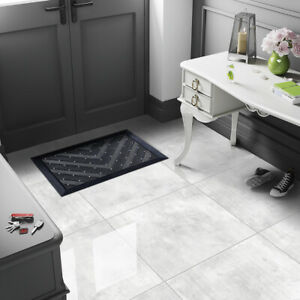 CUT-SAMPLE £20.89/m2 Light Grey High Gloss Porcelain Tiles 60X60 Wall-Floor