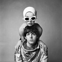 Paul McCartney Richard Avedon, rare 12 x 12 photo poster from negative Beatles.