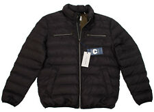 COLE HAAN MEN'S LARGE BLACK PUFFER JACKET COAT WITH PACKABLE TRAVEL PILLOW
