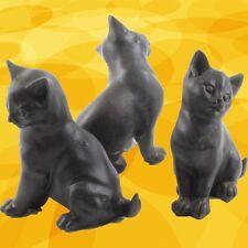 Katzen 3er Set Resin Tisch Kamin Dekoration Dekofiguren Geschenk für Sammler