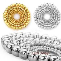 Hot 100-500pcs Silver/Golden Plated Round Ball Jewelry Spacer Beads 4-8mm