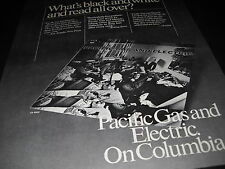 Pacific Gas And Electric What Is B+W and Read All All Over 1969 Promo Poster Ad