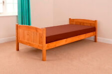 Single 3ft Wooden Bed Christopher PINE with Mattress - Tanya