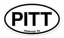 "PITT Pittsburgh PA Oval car window bumper sticker decal 5"" x 3"""