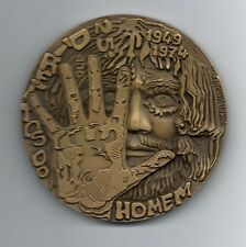 Human Rights Beautiful Scarecrow Freedom BIG BRONZE MEDAL by Vasco Berardo. M7c