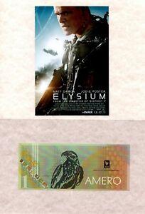"Original Prop money one bill used in the movie ""Elysium "" 1 Amero"