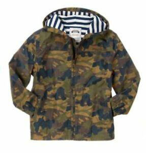 New Gymboree Boys 5 6 Year Hooded Camo Jacket Zipper Green Camo